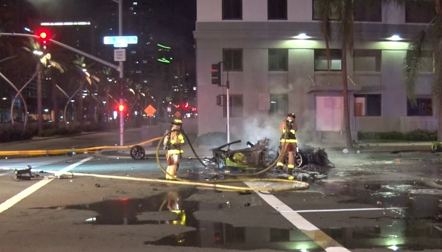 driver of speeding lamborghini killed in fiery crash on downtown
