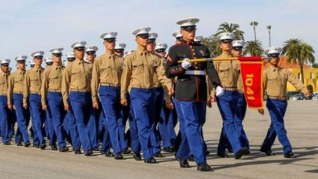 Graduation at Marine Corps Recruit Depot San Diego