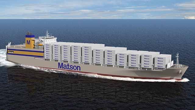 Artist rendering of Matson Kanaloa Class vessel.