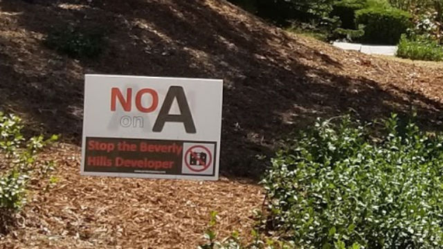 No on A sign