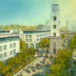 Rendering of SDSU West campus green