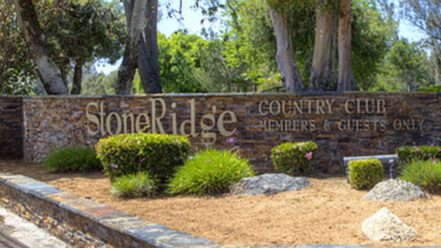 Entrance to StoneRidge Country Club
