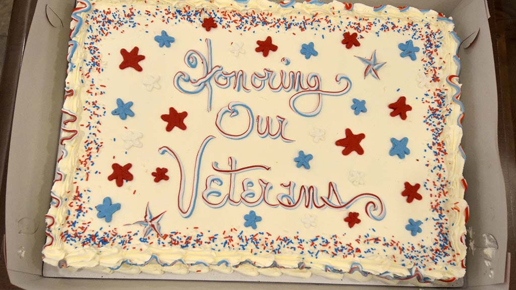 A cake was a part of the post ceremony commemoration at Patrician in La Jolla.