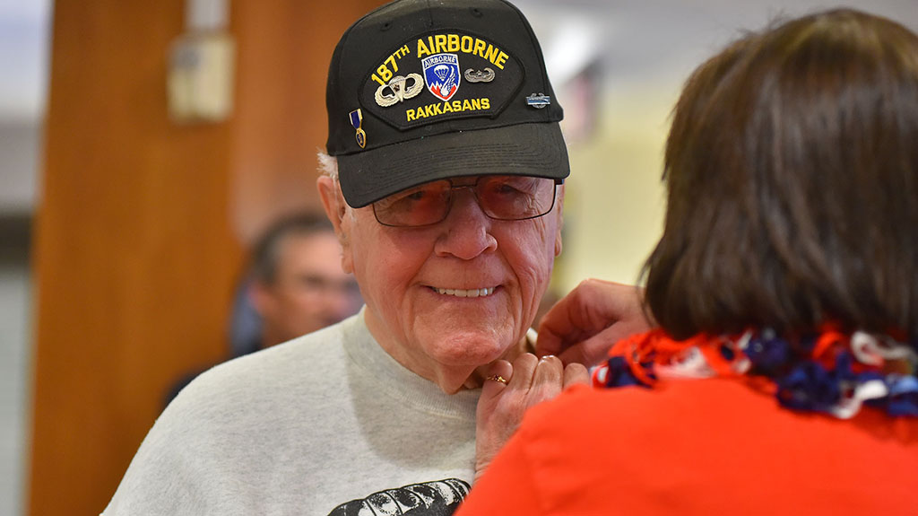 Veterans at Patrician, a senior living community in La Jolla, received a certificate and pin.