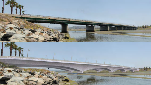 Existing and proposed bridges