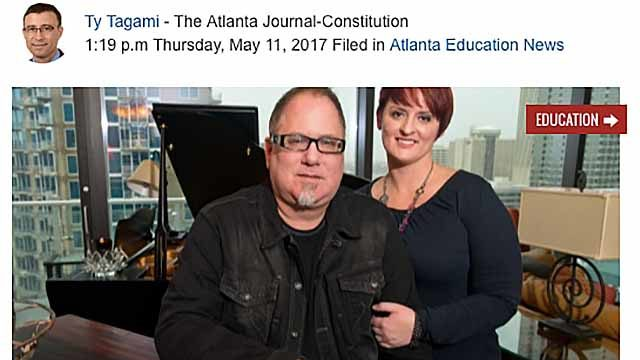 Bradley Matheson and Margaret Matheson as pictured in Atlanta news coverage.
