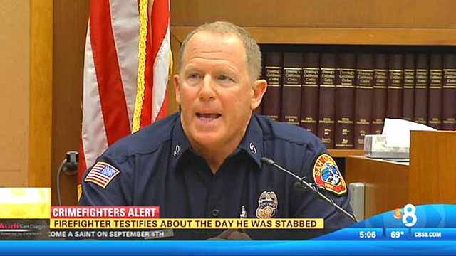 San Diego Fire Capt. Steven Michaels testifies in an earlier, unrelated case.