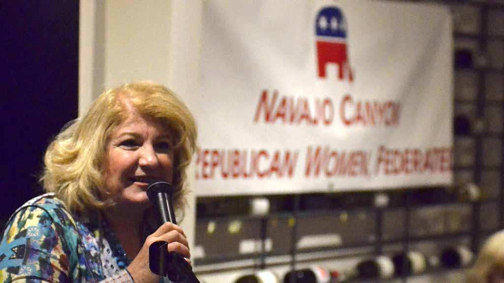 Sally Steele ended a two-year term as president of Navajo Republican Women Federated.