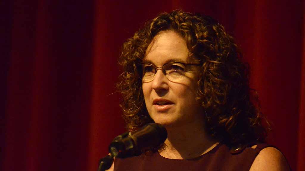 San Diego Unified schools Superintendent Cindy Marten spoke after Khizr Khan