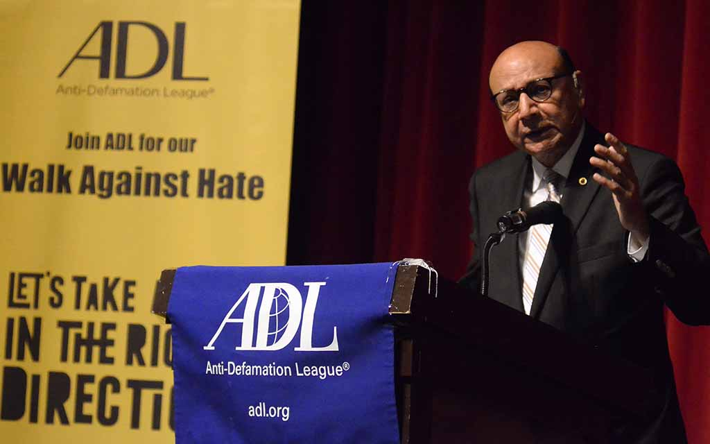 """Khizr Khan said: """"The bigotry, the hate seems to be everywhere. But our legacy is a legacy of hope, legacy of civil discourse."""""""