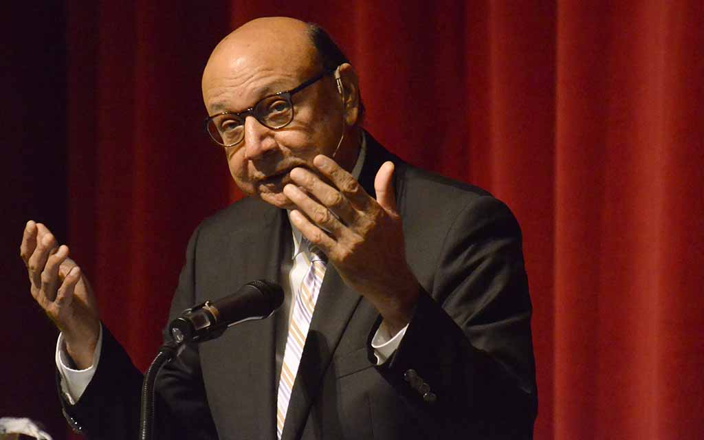 """Khizr Khan said: """"Always engage with those who disagree... You can set an example within your community, within your schools, within your neighborhoods."""""""