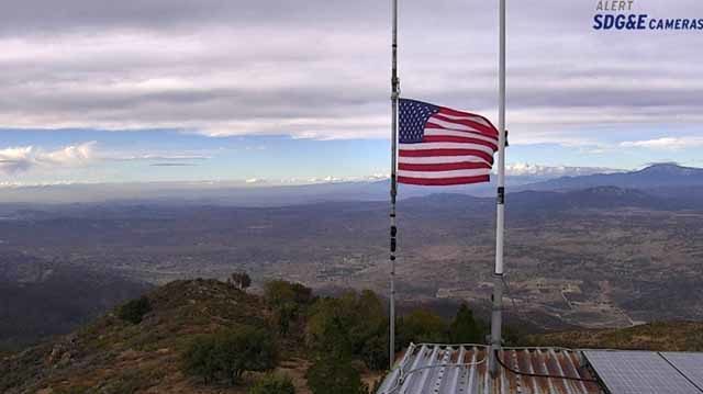 View from Palomar Mountain at 3:05 p.m. Tuesday using SDG&E camera.