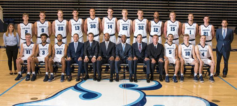 USD men's basketball team