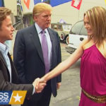 Donald Trump, Billy Bush and Arianne Zucker