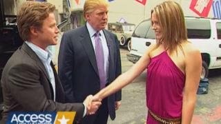 Donald Trump, Billy Bush and Arianne Zucker