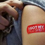 Flu shot bandage