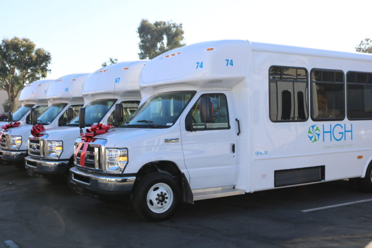 SANDAG Bus donation - SANDAG donated 13 buses to Home of Guiding Hands. Photo courtesy of Home of Guiding Hands