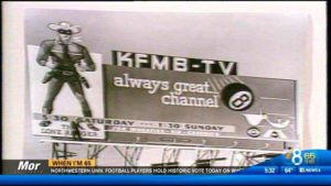 """The Lone Ranger,"" which aired on KFMB-TV, was used in a billboard promotion."