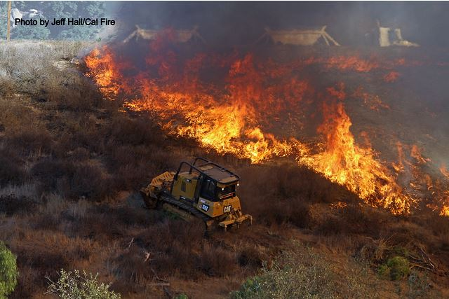 Third firefighter injured battling Lilac Fire in San Diego County