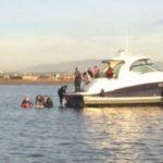 Marooned boat
