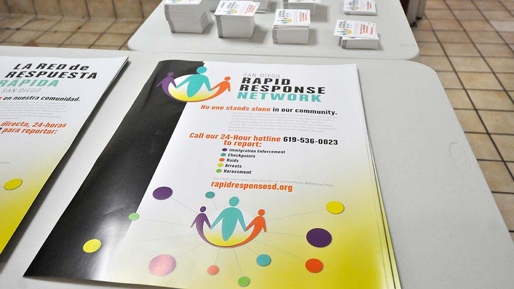 Rapid Response Network posters and cards were readied