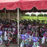 Bikes were readied for military families by Old Mission Beach Athletic Club
