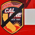 Black tape was placed over the Cal Fire logo in honor of Cal Fire Engineer Cory Iverson.