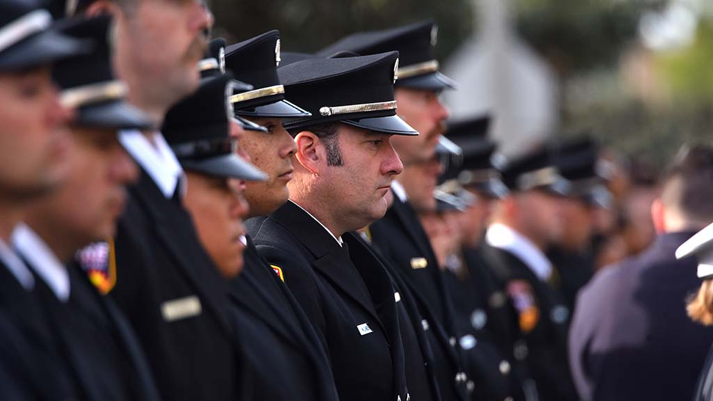 Firefighters from across the state paid their respects to fallen Cal Fire Engineer Cory Iverson.