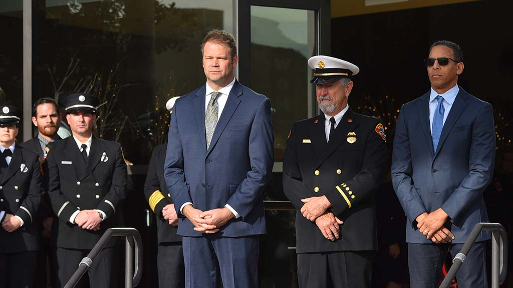 Memorial service at San Diego's Rock Church for Cal Fire Engineer Cory Iverson.
