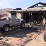 Burned Mira Mesa house