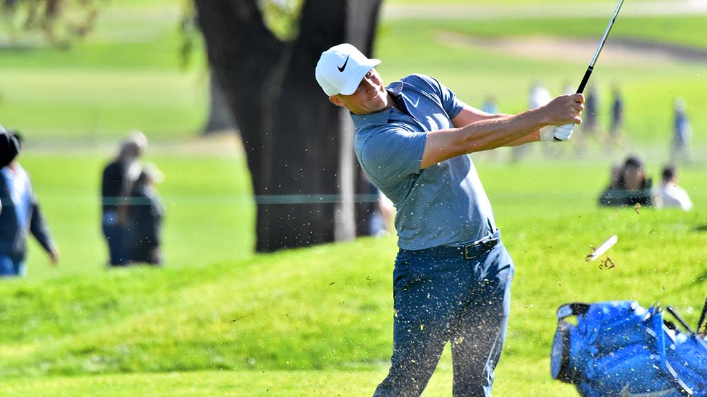 Alex Norén from Sweden was on top of the leaderboard after the third round at the Farmers Insurance Open with a score of -11.