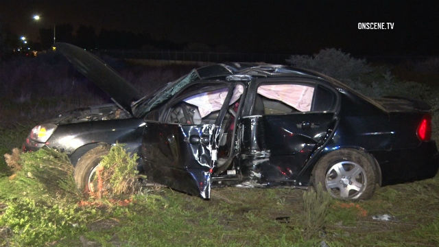 Woman Dies When Car Rolls and Crashes into Pole on I-5 in Chula