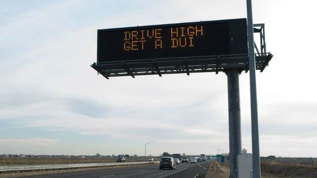 Drive high, get a DUI billboard message