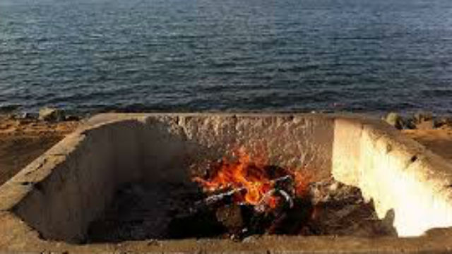 A fire pit. Courtesy City of San Diego - 2 Men Stabbed During Mission Beach Fire Pit Attack - Times Of San Diego