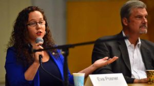"Political strategist Eva Posner singled out San Diego City Attorney Mara Elliott for praise, saying she ""came out of nowhere. Very intelligent, she's shrewd. She's organized."""