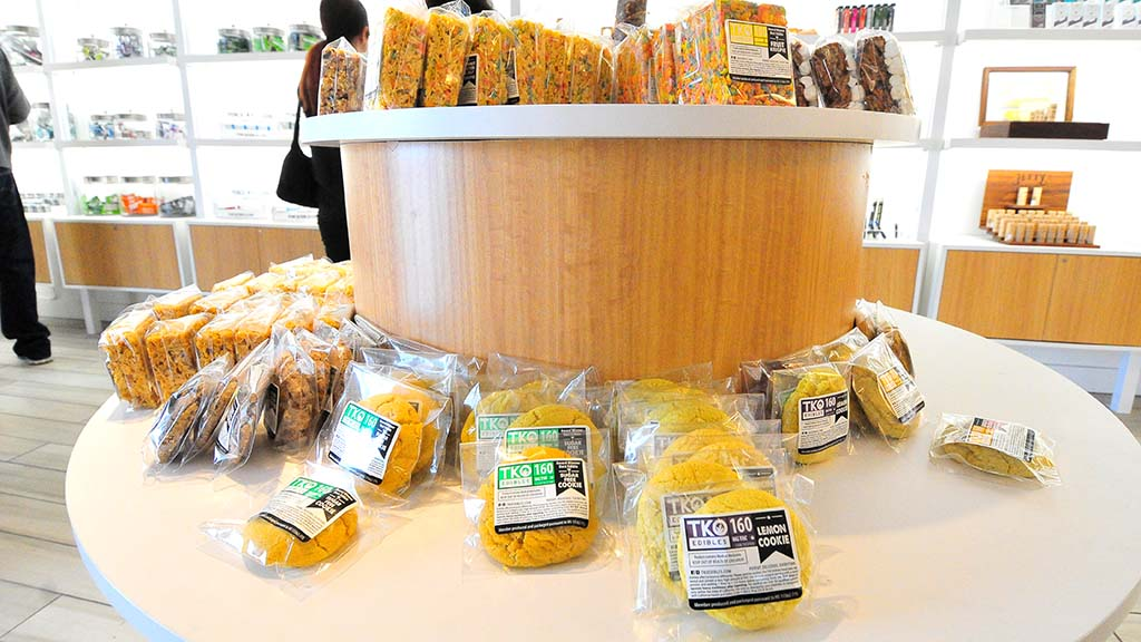 Cookies and rice treats were among the edibles at Apothekare dispensary in Mission Valley.