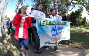 Luna Espinosa of St. James Solana Beach and youths from St. Rita Parish led the walk.