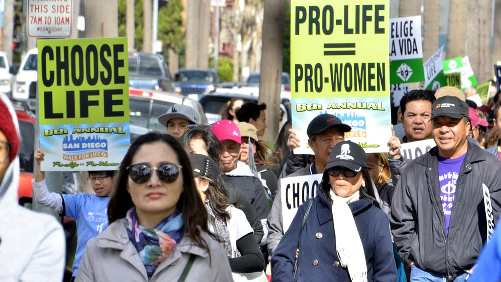 Theme of this year's Walk for Life was reflected in signs.