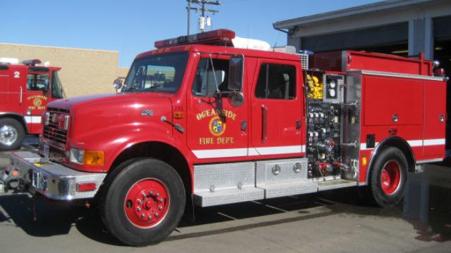 Oceanside Fire truck