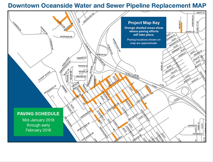 Downtown Oceanside Water and Sewer Pipeline Replacement Project