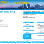 Sample property tax bill