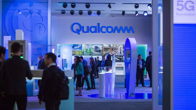 Qualcomm trade show booth