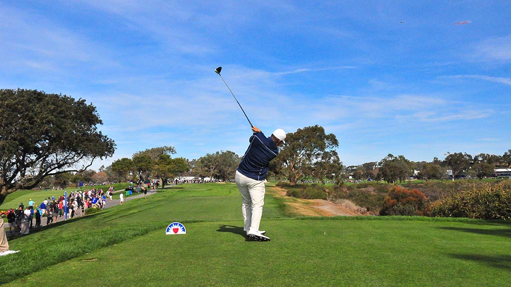 Ryan Palmer of Texas finished the third round of the Farmers Insurance Open in La Jolla with a score of -10, in 2nd place.