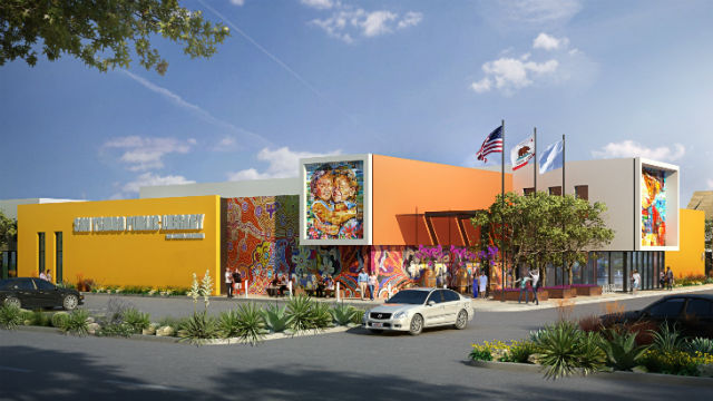 Rendering of San Ysidro Branch library