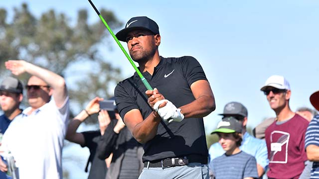 Tony Finau finished the third round of the Farmers Insurance Open in La Jolla with a score of -8, tied for fifth.