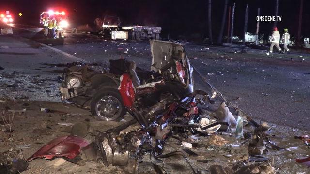 Corvette wreckage