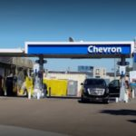 Mission Valley Chevron station, scene of robbery.