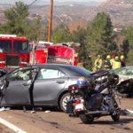 Fatal crash scene near Lawrence Welk Resort Village.