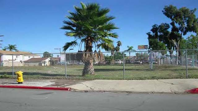 Site of The Lofts apartment development in Normal Heights for homeless veterans.