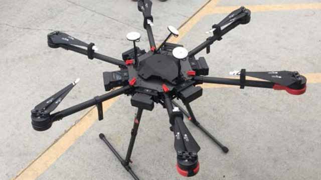 Drone used to fly 12 packets of methamphetamine over border into the United States.